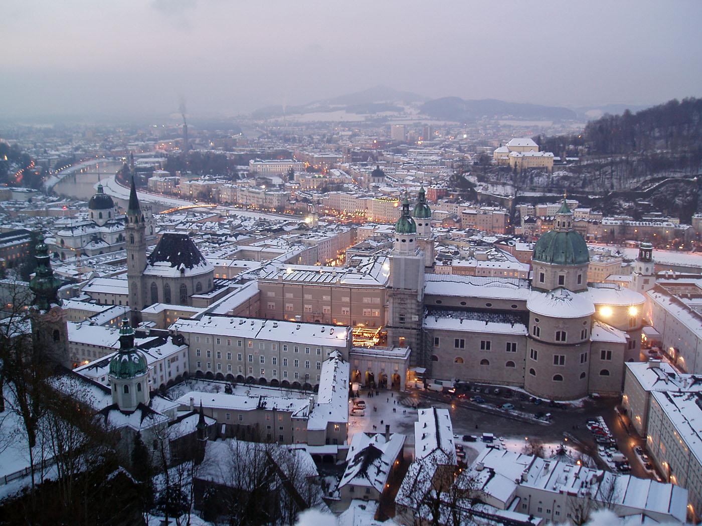 ザルツブルク街並み冬景色2005