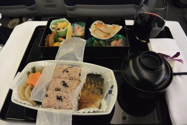 エアージャパンホノルル線機内食和食
