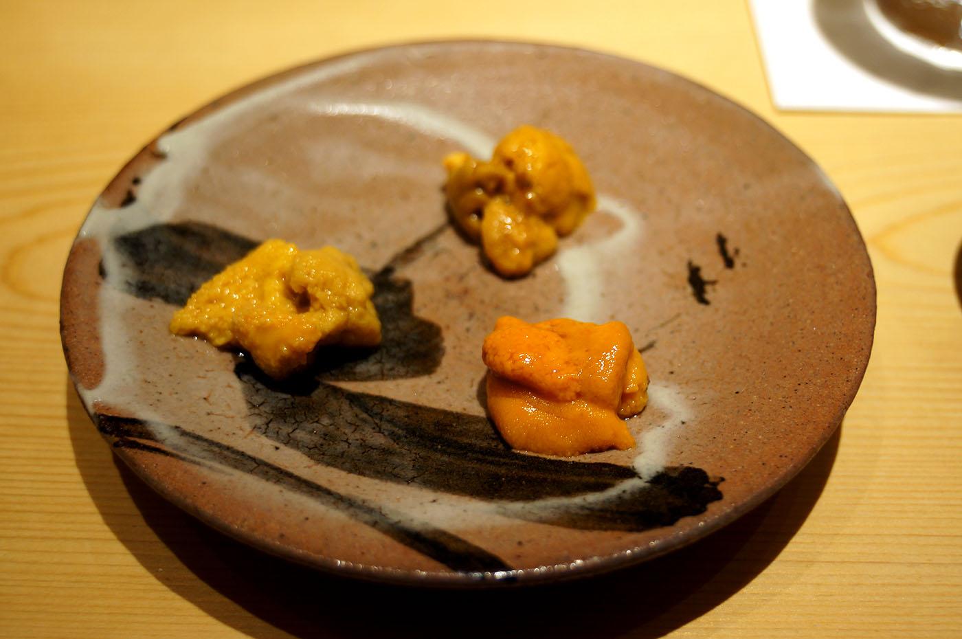 鮨さいとう 雲丹3種