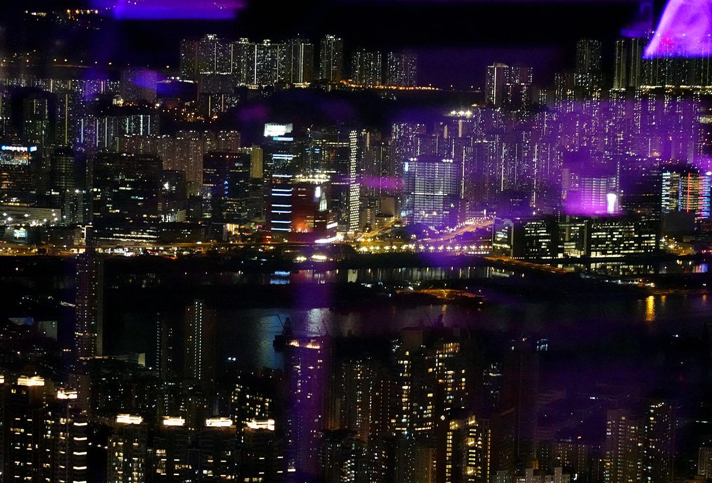 リッツカールトン香港OZONEからの夜景