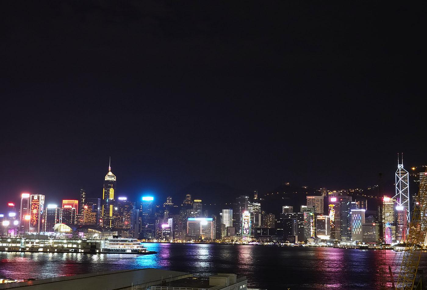 リッツカールトン香港1階夜景
