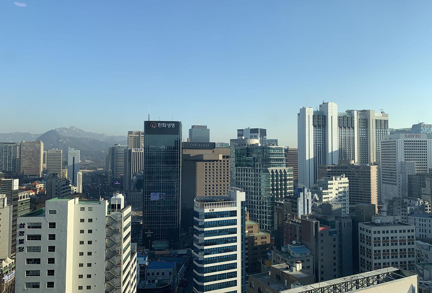 ソウル市内の景色