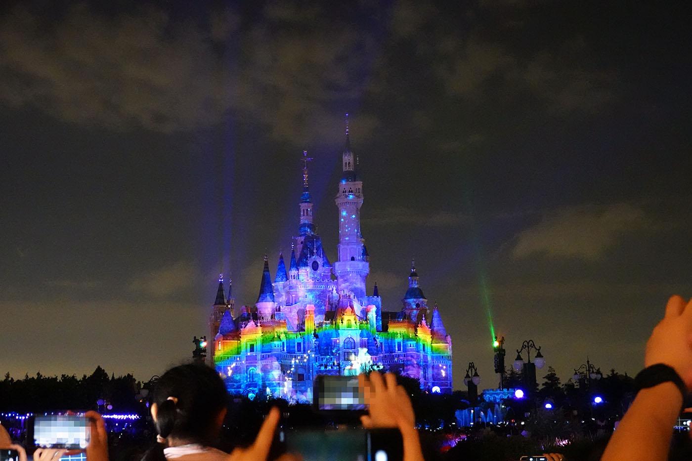 上海ディズニーランドプロジェクションマッピング