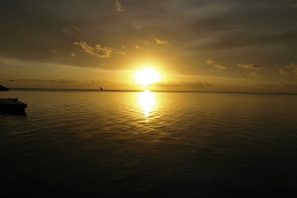 ボラボラ島の夕日