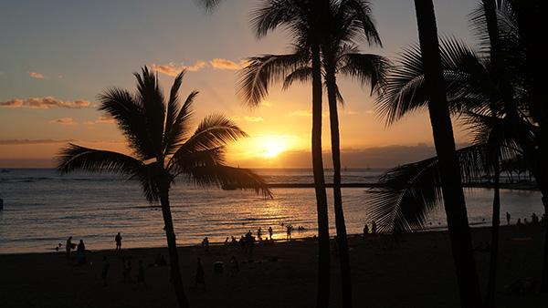 2013年最後のハワイの夕日