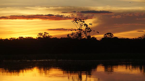 アマゾン川(夕焼け)