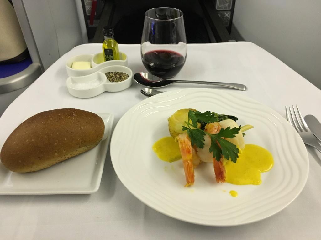 ANAヒューストン線機内食